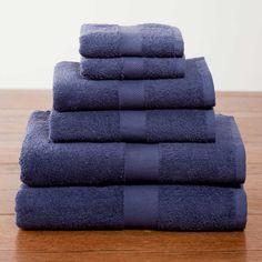 Navy Deluxe Six-Piece Cotton Towel Set $39.95