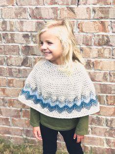Chevron Poncho Crochet PATTERN Colorful Chevron Crochet | Etsy