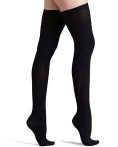 b2f8e72cf Up All Night Opaque Thigh Highs Black. Thick SocksSexy ...