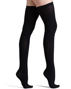 25af1f66d Up All Night Opaque Thigh Highs Black. Thick SocksSexy SocksWomen s ...