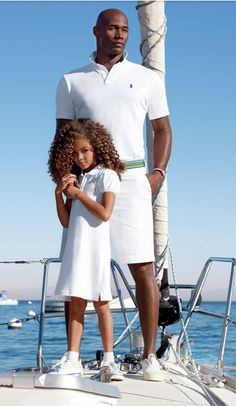 Father's Day Gift Idea: Father-Daughter Polos, the Polo Ralph Lauren classic for every member of the family Sharp Dressed Man, Well Dressed Men, Preppy Family, Toddler Fashion, Kids Fashion, White Outfit For Men, Polo Shirt Girl, Ralph Lauren Kids, Denim And Supply