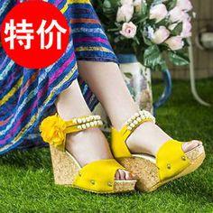 2013/串珠波西米亚坡跟凉鞋xiezi/nvxie/shoes women/liangxie-淘宝网 Clogs, Fashion, Clog Sandals, Moda, Fashion Styles, Fashion Illustrations