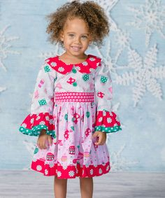 Look what I found on #zulily! Pink Noel Chloe Dress - Infant, Toddler & Girls #zulilyfinds