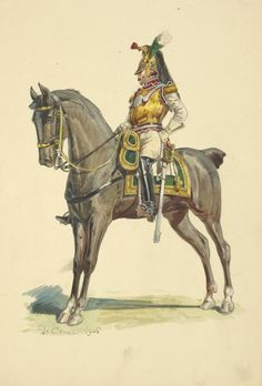 NAP- France: Naples Cuirassier 1812 (Kingdom of the Two Sicilies, Kingdom Of Naples, Kingdom Of Italy, Two Sicilies, National History, Napoleon Josephine, Napoleonic Wars, Ancient Civilizations, French Artists, Military History
