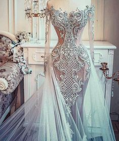 Beautiful Wedding Gowns, Sexy Wedding Dresses, Unique Dresses, Wedding Attire, Elegant Dresses, Pretty Dresses, Bridal Dresses, Beautiful Dresses, Bella Wedding Dress