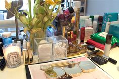 Emily Weiss makeup table