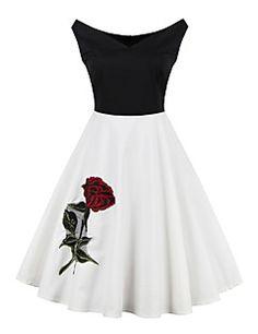 Womens+New+Fashion+Sleevelesss+Elegant+Printed+Vintage+Style+Swing+Rockabilly+Party+Dress+–+USD+$+27.99