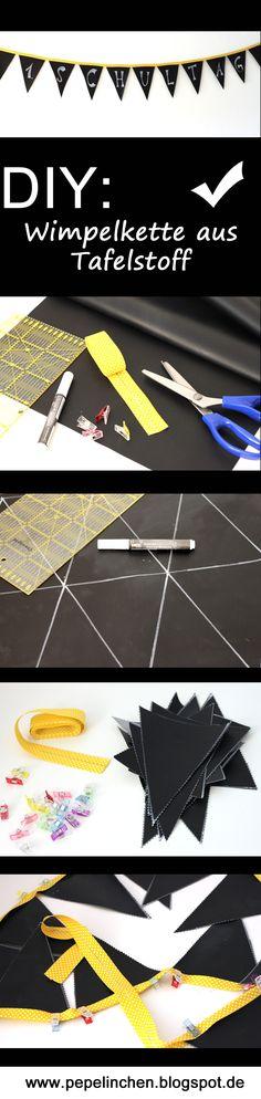 Anleitung zur Herstellung einer Wimpelkette aus Tafelstoff
