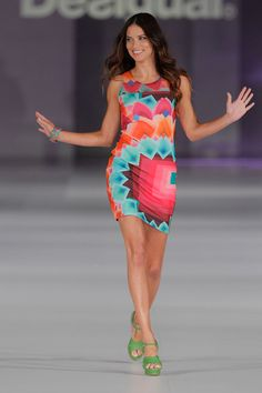 Adriana Lima Presents Desigual's Spring-Summer 2014 Collection