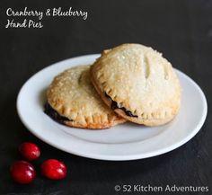Cranberry & Blueberry Hand Pies - a fun twist on Thanksgiving dessert!
