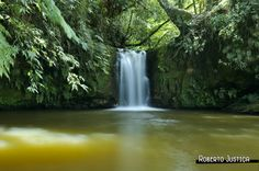 beautiful waterfall in São Thomé das Letras in Brazil. www.rjustica.com