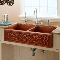 114333 copper 50/50 farmhouse sink