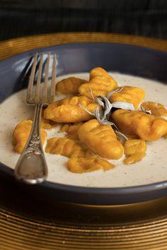 Gnocchi de potiron, sauce ail, cajou et sauge ©La Table Verte http://www.latableverte.fr