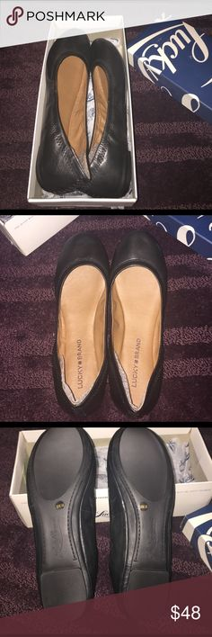 Womens lucky brand flats womens lucky brand flats in black leather. womens size 10. never worn new in box. Lucky Brand Shoes Flats & Loafers