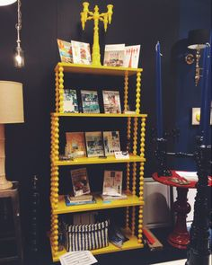 """The """"Chappy"""" etagere from Dunes & Duchess - customizable in a variety of colors and this sunny yellow version would brighten up any room! (Market Square Salon G6044) #hpmkt"""