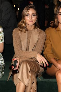Olivia Palermo attends the Carven show as part of the Paris Fashion Week Womenswear Spring/Summer 2018 on September 28 2017 in Paris France