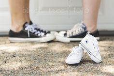 Birch Tree Foto Fine Art Photography. Maternity Announcement. #converse #baby #mamas #birthannouncement #pregnancyannouncement #pregnant #pregnancyphotos #familyphoto