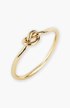 """Would be cute to give to bridesmaids as wedding gift for helping you """"tie the knot"""". Argento Vivo Mini Knot Ring"""