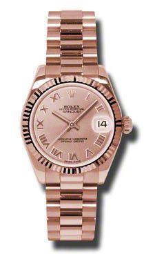 Rolex - Datejust 31mm - Gold President Pink Gold - Fluted Bezel - President #178275PRP