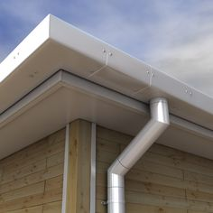 Alumasc Pressed GX Aluminium in the Smooth Box with Circular Flushjoint Downpipes - various colours made to order or can be supplied in the plain mill finish ready for onsite painting.  Order online www.guttercentre.co.uk or call us on 0330 2231731
