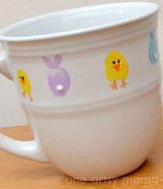 Springtime Thumbprint Mug--easy and adorable!