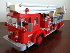 1963 Crown Firecoach Snorkel: A LEGO® creation by Antique Fire Apparatus… Fire Dept, Fire Department, Lego Fire, Graduation Party Themes, Lego Vehicles, Fire Equipment, Lego Design, Sports Party, Fire Apparatus
