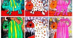 GAT O FERA ? Alumnes de 4t i 5è MATERIALS - Paper pintura DIN A-3 - Llapis i goma - Marcador permanent negre - Ceres gras... Photo And Video, Artwork, Free, Work Of Art, Auguste Rodin Artwork, Artworks, Illustrators