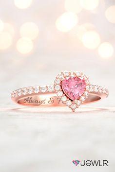 Cute Jewelry, Gold Jewelry, Jewlery, Beautiful Symbols, Love Symbols, Personalized Promise Rings, Diamonds And Gold, Pink Ring, Pink Stone