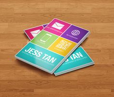 Flat Style Colors & Simple Metro Designs.... on business cards?!  Get creative and grab some ideas from these flat, simple, colorful, typographical, windows 8 inspired business card designs!