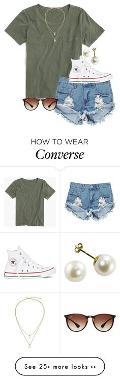 """"" by econgdon on Polyvore featuring J.Crew, Boohoo, Kate Spade, Converse and Ray-Ban"