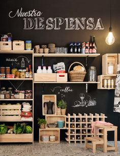 35 Ideas For Refrigerator Organization Dollar Store Spice Racks - tupperdosen ordnung Deco Restaurant, Restaurant Design, Küchen Design, Store Design, Spice Shop, Fruit Shop, Farm Store, Cafe Shop, Cafe Interior