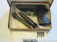 Walther PPK/S 32 acp west german interarms Find our speedloader now… 32 Acp, You Magazine, Pistols, James Bond, American Made, Weapon, Hand Guns, Fingers, Magazines