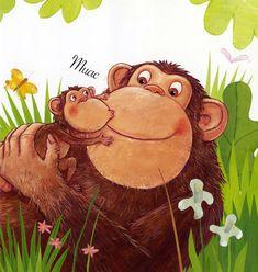 Ilustración de Guido van Genechten para su obra El primer beso.  http://www.canallector.com/