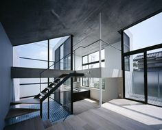 Split level Knot House in Japan by Apollo Architects & Associates