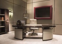 Descarga el catálogo y solicita al fabricante Haussmann | escritorio de oficina By hugues chevalier, escritorio lacado de roble, Colección haussmann