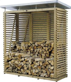 Firewood Rack & Best Storage Ideas In Backyard 44 Outdoor Firewood Rack, Firewood Shed, Firewood Storage, Outdoor Storage, Stacking Wood, Wood Storage Sheds, Wood Store, Potting Sheds, Building A Shed