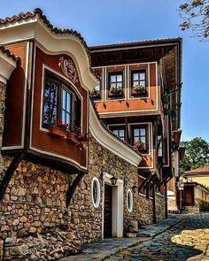 Filibe'de eski Türk konakları.