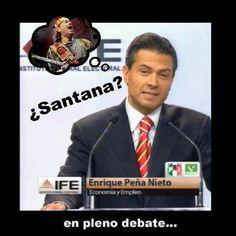 Peña en pleno debate...