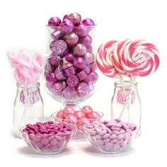 Pink Candy Buffet Ideas. Huge selection of assorted candy types, colors & containers - perfect for planning your candy buffet.