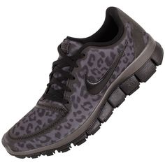 Nike Free Run 5.0 V4 Womens Running Shoes 511281-013 Dark Grey 6.5 M... ($140) ❤ liked on Polyvore
