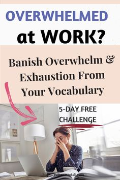 Do you feel overwhelmed at work? Being busy, frustrated and overwhelmed became a part of our daily life. But it doesn't have to be that way. What to know what to do when you are overwhelmed? Join Banish Overwhelm, Frustration and Exhaustion from your vocabulary 5-Day Free Challenge - to get best tips and tricks for busy women and busy moms. #productivity #success #stopoverwhelm #peaceofmind What Is Resilience, How To Build Resilience, Emotional Resilience, Feeling Stressed, Feeling Overwhelmed, Productivity Challenge, Activities For Adults, Do You Feel, Peace Of Mind