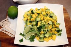 Mango, Avocado and Cucumber Salad is a refreshing salad with a perfect balance of textures and flavours tossed with a zesty lime dressing.