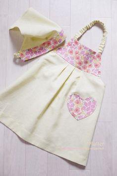 ゴム紐 エプロン 幼稚園 作り方 型紙 Kids Patterns, Sewing Patterns, Elise Gravel, Kids Apron, Japanese Outfits, Sewing Accessories, Sewing For Kids, Home Textile, Kids And Parenting