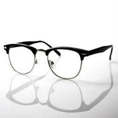 cab71ff4d9d6f Half frame Clear Lens Wayfarer - Black - the kind of glasses I am dying to  have!