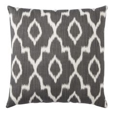 "Gray might be nice in the living room with the red. Threshold™ Ikat Toss Pillow (18x18"")"