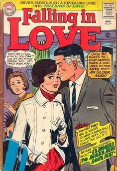 <b>From 1955-1973, DC Comics printed <i>Falling In Love</i>, a romance comic aimed towards teen girls and young women, that was ridiculous and kinda trashy.</b>