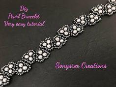 Elegant Pearl Bracelet.Super Easy Tutorial - YouTube