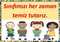 Illustrated Class Rules for Grades 1 - Lingerie Class Rules, Turkish Language, Classroom Rules, School Decorations, Colorful Pictures, Grade 1, Preschool, Family Guy, Education