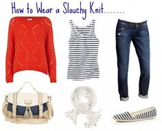 Slouchy knitwear - perfect summer into autumn outfit