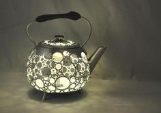 Stunning upcycled lights made from discarded pots, pans and kettles by French artist Gilles Eichenbaum – encroyable!